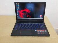 MSi High Spec Gaming Laptop i7-8th Gen 16GB RAM 256GB SSD & 1TB HDD 6GB GTX1060 GPU Win 10