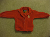 WALES MOTIF FLEECE JACKET + pockets & zip front - Age approx 4-6 NOW REDUCED AGAIN TODAY only £3.50