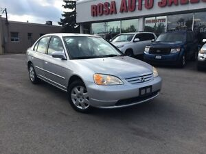 2002 Honda Civic LX-G 4dr Sdn LX-G Auto SAFETY ETEST LOW KM PW P