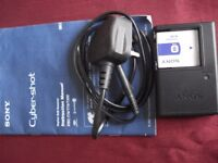 SONY CYBER-SHOT LITHIUM ION DIGITAL CAMERA BATTERY (NP-BD1) & CHARGER