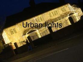 Asian wedding lights hire, Indian outside house lights hire, wedding mehndi stage hire, house lights