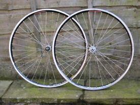 700c road bike wheels shimano 7 8 9 10 speed 105 hubs mavic cxp33 rims