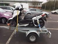 Motorbike, Scooter and moped recovery, and goods transportation.