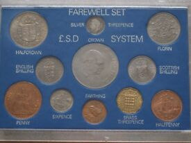 Farewell To £sd System Pre-Decimal £.s.d 11 coin Set