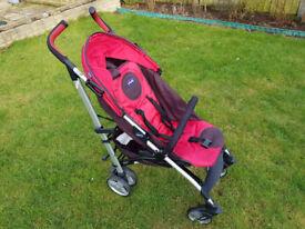 Chicco Liteway stroller red/black.