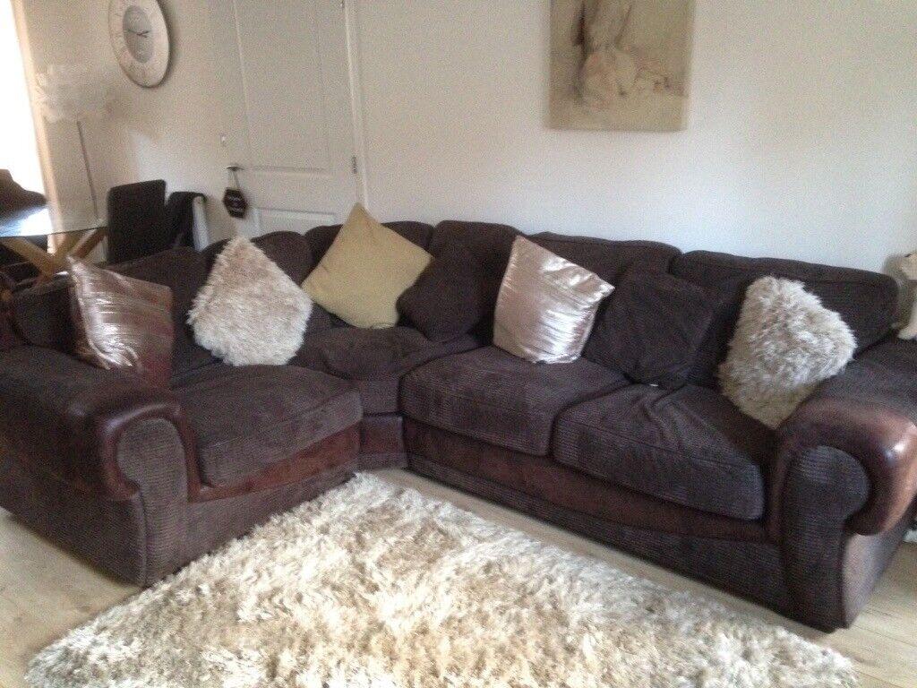 Brown Cargo Corner Sofa In Swindon Wiltshire Gumtree
