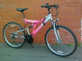 Challenge mountain bike - Bike stand - Good brakes .