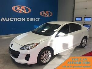 2013 Mazda MAZDA3 GX, BLUETOOTH, SAT RADIO, FINANCE NOW!