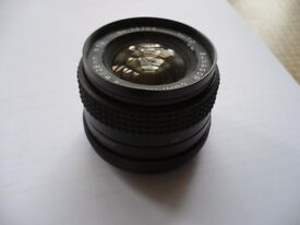 Sunagor 28mm wide angle lens with 52mm screw thread