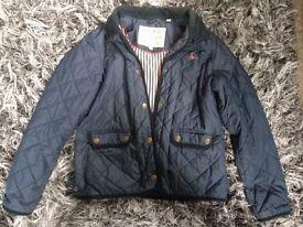 Ladies Navy Jack Wills coat size 14 in great condition.