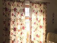 Lined floral curtains