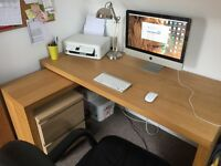 Lovely Spacious L Desk And Chair (perfect for an organised student or private home based office)
