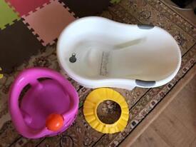 Tippi Toes bath, Bath Seat & Shampoo Hat