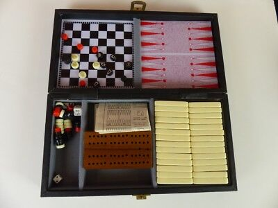 Mini Folding Magnetic Board Games Chess Checkers Backgammon Dominoes Cribbage