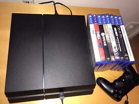 PlayStation 4 (PS4) console & 8 games ! Amazing condition ! Price stands , no offers !