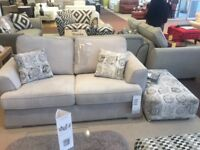 2 seater sofa bed ,3 seater sofa and footstool