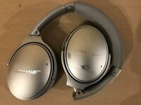 Bose QC35 Noise Cancelling Over Ear Headphones - Silver Boxed