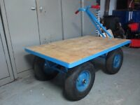 Very Heavy Duty Turntable Hand Truck Platform Trolley Yard Cart Farm Warehouse Stock Trolley