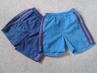 Boys Blue Swim Shorts x 2 Age 2-3 years