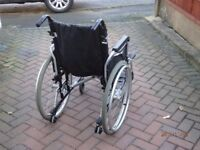 Lightweight Wheelchair, Aluminium and Steel, Removable wheels
