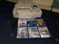 Sony Playstation 4 500GB White Boxed PS4 (5 Games, Official Controller) Need For Speed