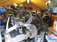 all golf trolleys repaired,powakaddy,motocaddy,hillbilly,etc,also.old trolleys bought.