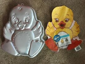 USED WILTON NOVELTY CAKE TINS