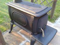 cast log burner wood stove