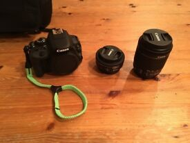 Canon EOS 100D 18.0MP Digital SLR Camera with Kit 18-55mm and 40mm Pancake lens