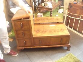 Art Deco dressing table with full length mirror