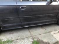 Audi s3 genuine side skirts in lava grey with door clips and inside s3 strips