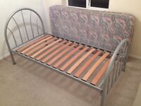 Single metal bed frame, good condition.