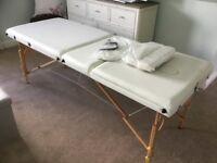 Cream Wide Massage/Treatment Table