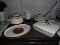 Denby Potter's wheel casseroles/complete service available if wanted