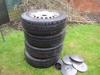 Steel Wheels x 4 Mercedes Vito 108