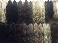 Joblot of 40 new half wigs mixed colours £280 all new