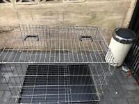 "Savic dog cage 36"" long folds flat with tray £35"