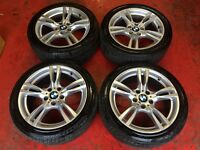18'' GENUINE BMW F30 M SPORT ALLOY WHEELS TYRES 5X120 E90