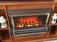 Electric 3 bar coal effect fire with built in surround