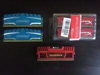 DDR3 Memory - Corsair, Crucial, Kingston