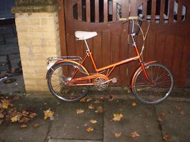 Orange Shopper Bike