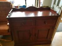 Solid pine court cupboard