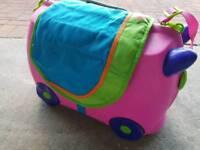 Pink tranke with saddle