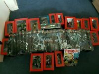 Collection of 64 ultimate marvel graphic novel books with figures