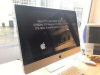 iMac 27″ (Late 2009), Intel Core i5 2.66GHz, 8GB RAM, 1TB HDD, 3 month warranty, Price £550