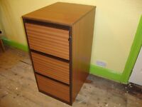 Filing cabinet with lock and key. 3 drawers. Not flat pack.