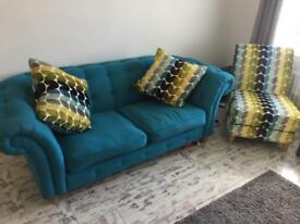 2 2 seater sofas and chair