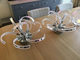 Pair of LED semi flush ceiling lights - immaculate nearly new