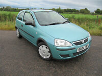 Vauxhall Corsa 1.2 16V only 45,000 miles. 1 Lady Owner. £1625. Cheap insurance.
