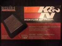 K&N 33-2865 air filter for 2003-2016 Audi, Volkswagen, Seat, Skoda. BNIB and sealed